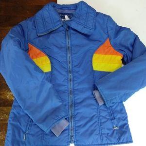 Vintage Blue W/Orange And Yellow Obermeyer Jacket